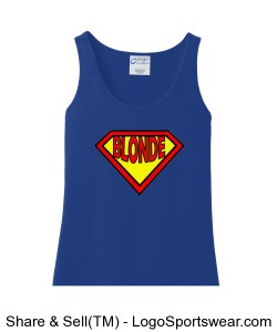 Ladies 100% Cotton Tank Top Design Zoom