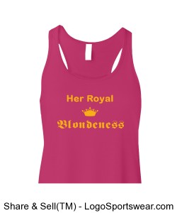 Bella & Canvas Ladies Flowy Racerback Tank Design Zoom